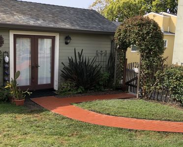 Photo for Pretty studio cottage in quiet neighborhood just blocks to Solano shops, BART.