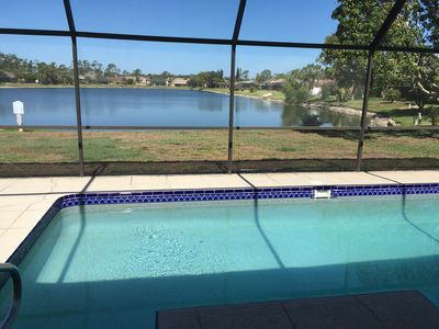 Photo for Beautiful Family Home Lake View /Solar Heated Pool Home