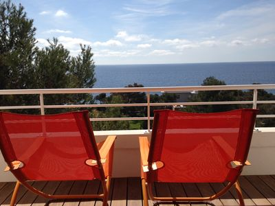 Photo for Beautiful 3 rooms with sea view, air conditioning, internet, pool, 4-6