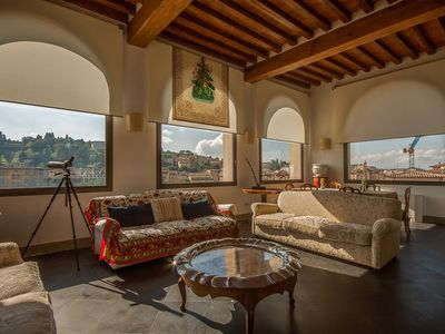 Photo for Stunning rental penthouse apartment situated close to the River Arno