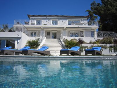 Photo for Incredible sea views from this 5 bedroom luxury villa in Cannes, heated pool