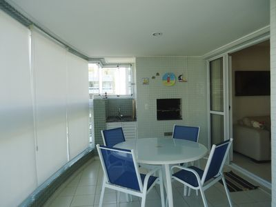 Photo for Apt 200m from the beach, 3 suites, recreation area and 3 parking spaces