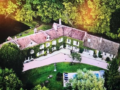 """Photo for Come relax at """"Le Moulin du Bonheur"""", a mansion of 4000 SQ ft on a 3 acres land!"""