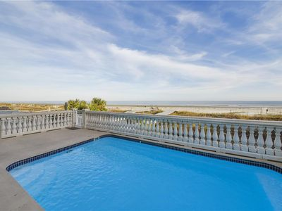 Oceanfront Home w/ Large Pool, Private Boardwalk, Elevator, & Pool Table