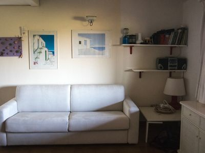 Photo for Apartment with terrace overlooking the sea, 2 steps from the beach