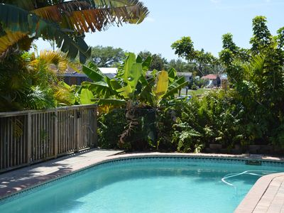 Photo for Tropical Home on Water with Heated Pool and Close to Beach