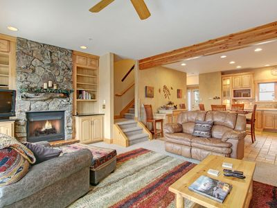 Photo for Mount Richthofen S3 - 3 Br condo with Marys Lake and mountain views!