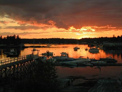 A Boothbay Harbor Sunset from your balcony, there's a spot waiting for your boat