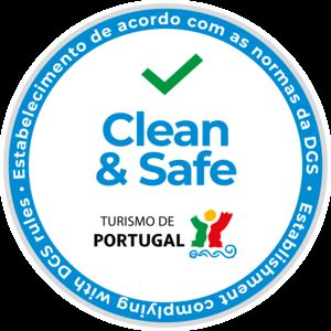 Clean & Safe Brand approved by Tourism of Portugal