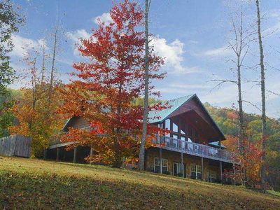 Photo for The cabin has Fantastic Mountain Views, beautiful cabin, great yard for kids,