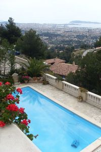 Photo for House with a garden and a wonderful view of the sea, large terrace, pool