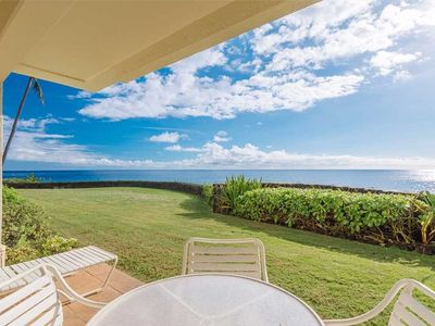 Photo for Beautifully Decorated Air Conditioned Ocean Front 2 BR/ 2 BA Poipu Condo