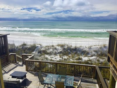 Photo for Beachfront Bliss B - SNOWBIRDS - $1695.00/month - RIGHT ON BEACH