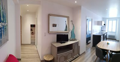 Photo for 1 bedroom apartment in the old center of Ile Rousse, 50 meters from the beach.