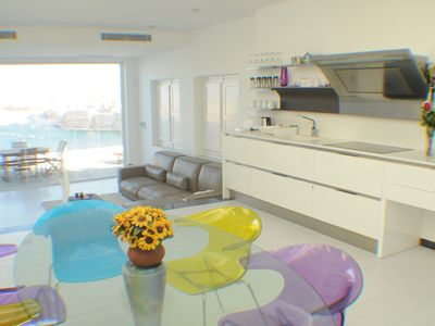 Photo for Valletta dream -penthouse, private terrace with sea view, AC