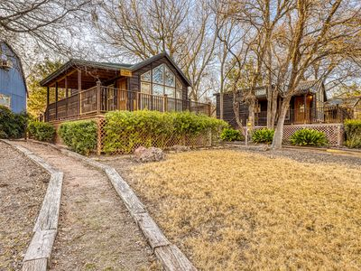 Photo for Family-friendly cabin at a working winery w/ shared hot tub, BBQ, & firepit!