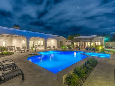Photo for Two Lavish Homes in One w/ Private Theater, Heated Pool, Hot Tub & More! Perfect for Groups!