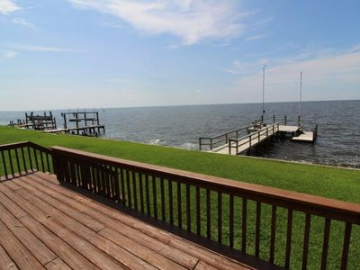 Photo for Waveney Cottage in Point Harbor Soundfront 2 Bedroom Home w/ Private Pier