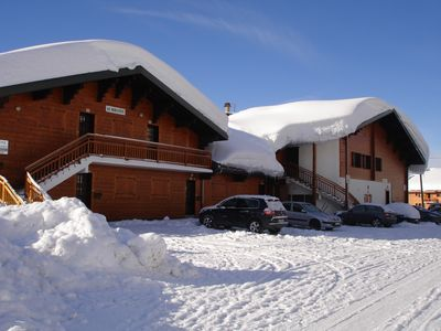 Photo for APART. 2/5 pers. Heart of resort View of the slopes, slopes 50 m private GARAGE