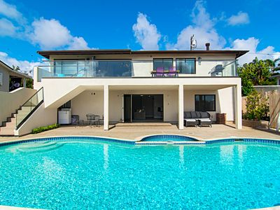 Photo for New Listing! Stylish New Home w/ Private Pool -- 1 Block to Beach