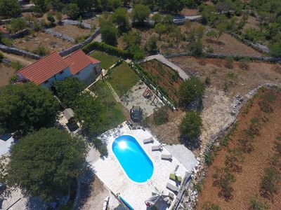 Photo for Heritage Villa HEAVEN No. 1 near Trogir, heated pool