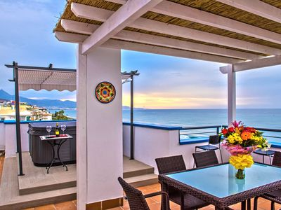 Photo for A Spectacular 3 Bedroom Duplex Penthouse On the Beach Front of Peñoncillo beach