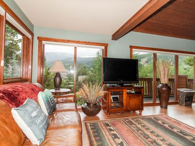 Photo for Mountain Home, 2nd Story Deck with Private Hot Tub & Mountain Views
