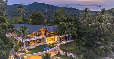 Photo for Luxury 360 degree sea view 5 bedroom pool villa, private set in 10000m2 gardens