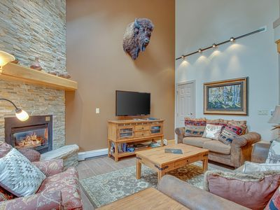 Photo for NEW LISTING! Beautiful, spacious townhouse w/shared hot tub-steps to the shuttle