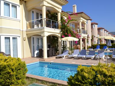 Photo for Beach front 5 bedroom villa with private pool in Calis beach, Fethiye.