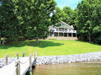 Photo for Alva's Retreat - Cozy Lakefront Home with a Gentle Lot, Large Private Dock and Beautiful Views of SML!
