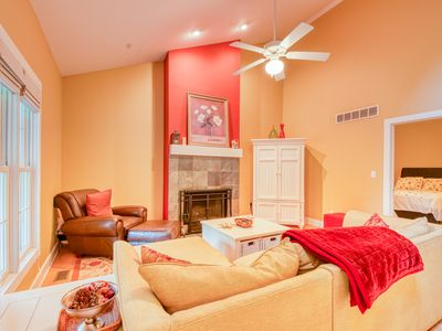 Photo for 1 Pond Place - Outdoor fire pit, shared pool, soaking tub!