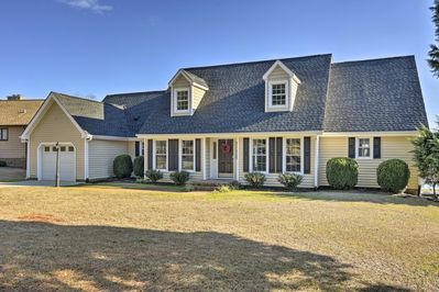 Enjoy the private Carolina Lakes community when you book this Sanford home.