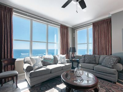 Photo for AQUA 2201 PENTHOUSE LUXURY CONDO! SLEEPS 8! BEACH CHAIRS!
