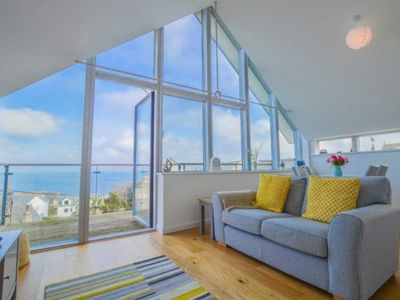 Photo for A stunning penthouse apartment with spectacular views over St Ives Bay.