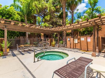 Photo for Large pines and poolside shade to cool Summer days. Low rates - Summer dates