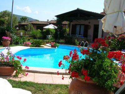 Photo for Villa with garden pool and view of Tavolara