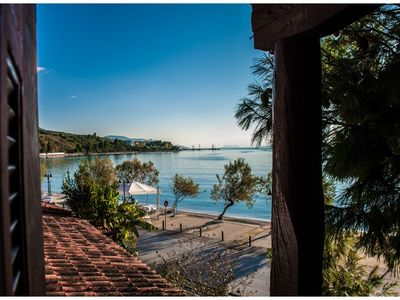 Photo for Traditional, seafront villa, just steps away from the beach.