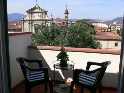 Photo for Wonderful city apartment with breath taking views over Florence.