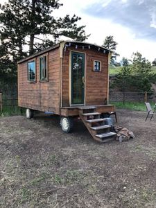 Photo for Trolley car tiny house in the mountains