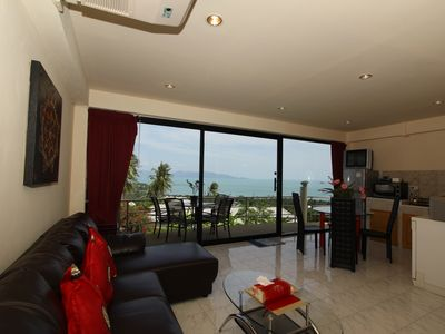 Photo for APARTMENT 2ch 80m2 with sea view Swimming pool jacuzzi ext. Cuis.éq.  Private terrace bar