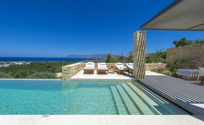 Photo for Luxury villa for dreaming holidays, 100% privacy, with pool & panoramic sea view