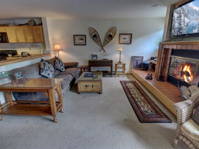 Photo for Liftside is a great place to stay. It's a quick walk to the Mountain House so you'll be on the slopes quickly. The condo has beautiful views with a large deck overlooking the wetlands and the slopes. Liftside Condos also has an indoor pool and hot tub. A p