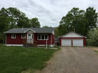Within 5 miles of the all attractions in Sault Ste. Marie, MI!  Great Deck and Y