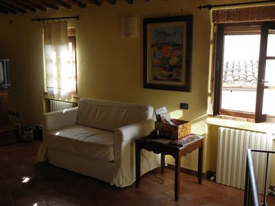 Photo for Deliciuos apartment in the historical center of the small village of ASCIANO