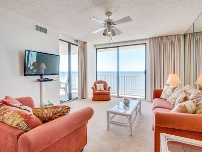 Photo for NEW LISTING! Waterfront condo w/ shared pools, hot tub, steam room, tennis