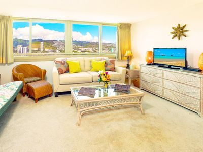 Photo for 17th Floor One Bedroom in Waikiki | Close to Beach | Mountain Views