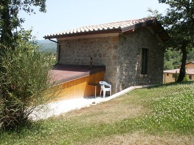 Photo for Detached Rustico on beautiful country house with pool and tennis court