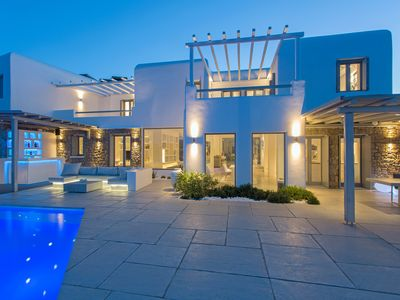 Photo for Luxurious Villa near Corfos with a view on Mykonos