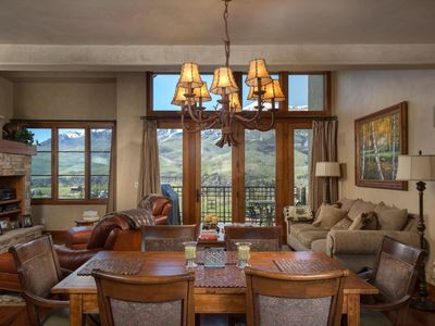 Photo for Panoramic Mountain Views, Ski Access & Private Hot Tub Await at this Stylish Escape. Stunning Deck!